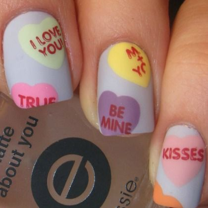 CANDY HEARTS NAILS