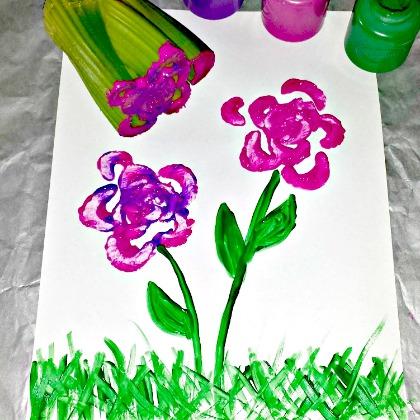 CELERY FLOWER PRINTING