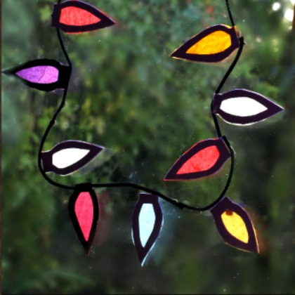CHRISTMAS LIGHT SUNCATCHER