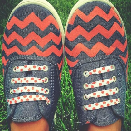 DIY CHEVRON SHOES
