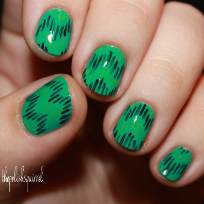 GREEN IKAT NAILS