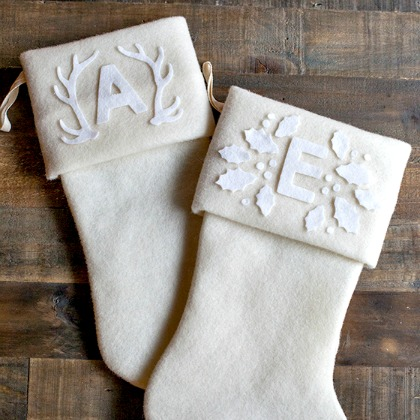 MONOGRAMMED FELT STOCKINGS