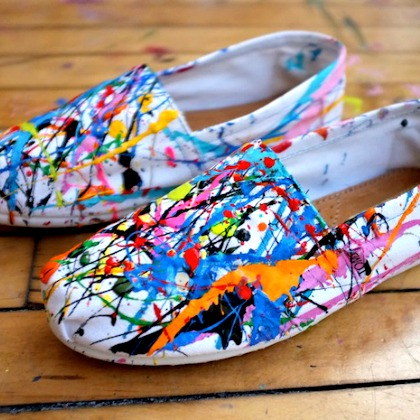 PAINT SPLATTER SHOES