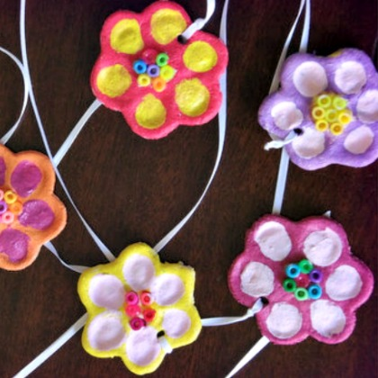 SALT DOUGH FINGERPRINT FLOWERS