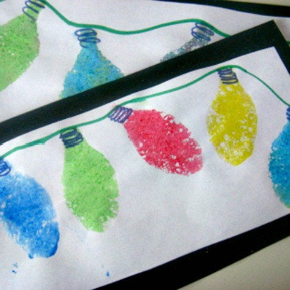 SPONGE PRINTED CHRISTMAS LIGHTS