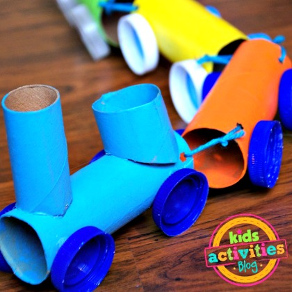 TOILET PAPER ROLL TRAINS