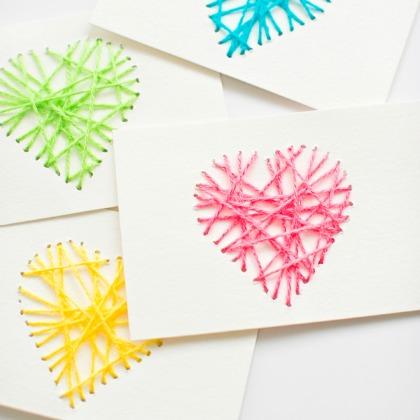 YARN HEARTS CARD