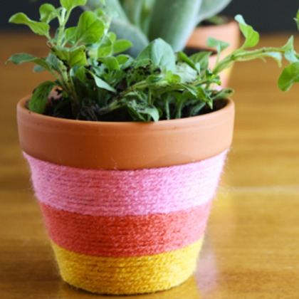YARN WRAPPED POTS