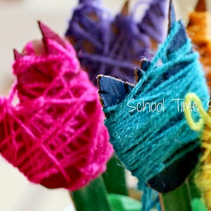 YARN WRAPPED TULIPS