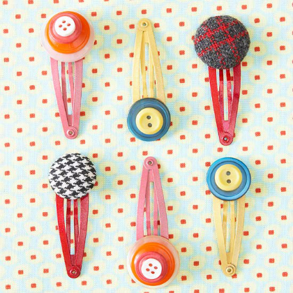 button barrettes