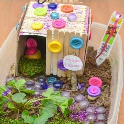 button fairy garden