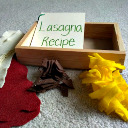 felt lasagna play