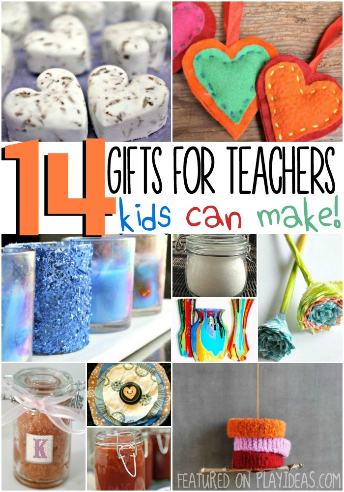 gifts for teachers kids can make