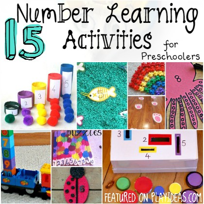 number learning activities