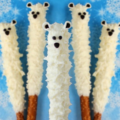polar bear pretzels