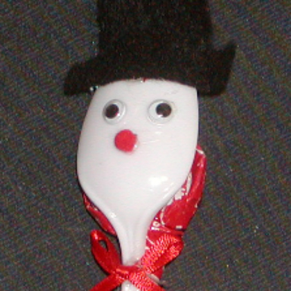 spoon snowman
