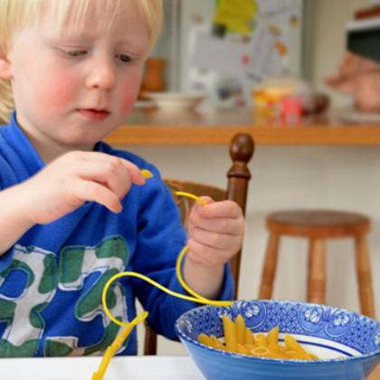 threading pasta