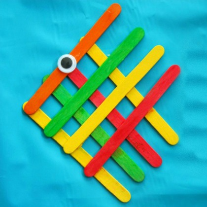 angel fish made out of craft sticks - fun popsicle stick activity for kids