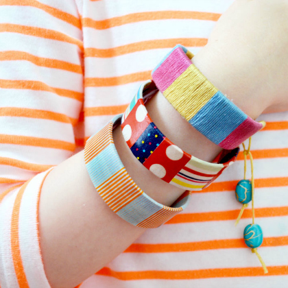 bracelets made out of bendy craft sticks