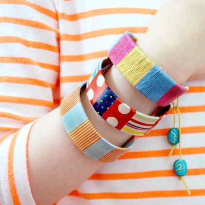 bracelets made out of bendy craft sticks