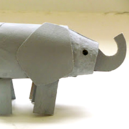 cardboard pieces elephant