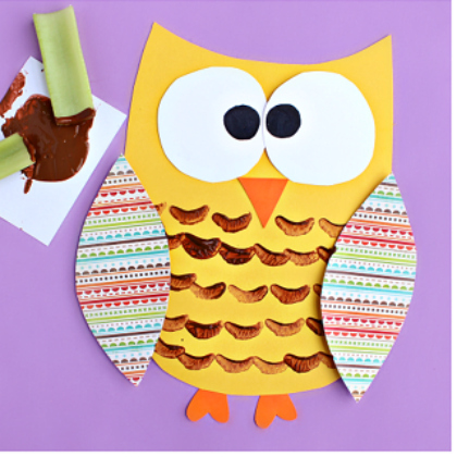 celery stamped owl