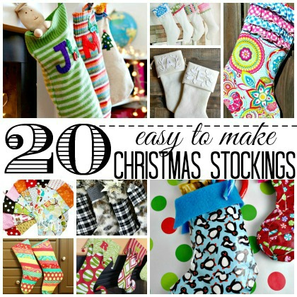 easy to make christmas stockings