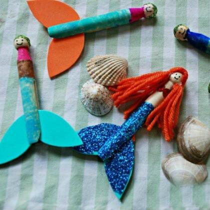 clothespeg mermaids