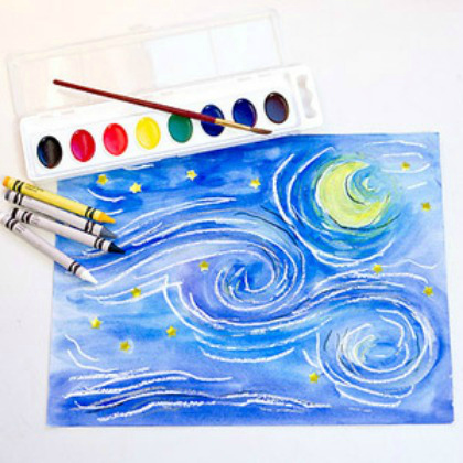 crayola starry night