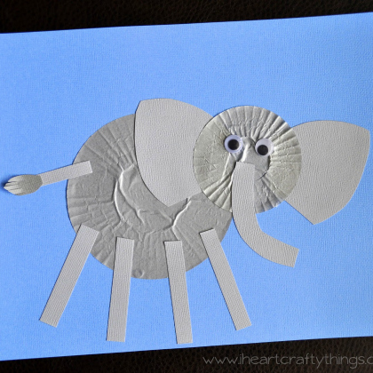 cupcake paper elephant