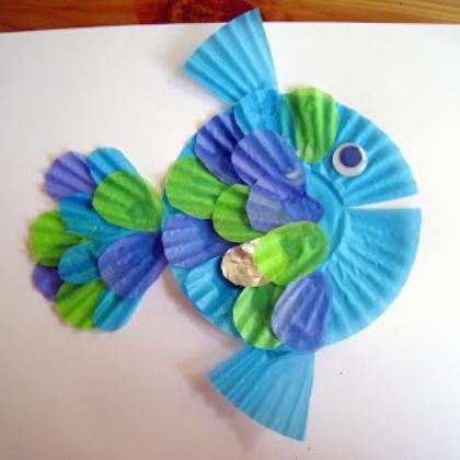 cupcake paper fish