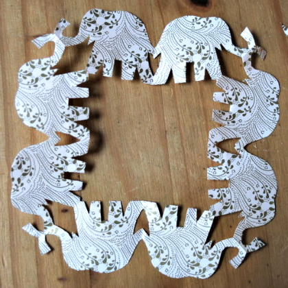 cutout paper elephants