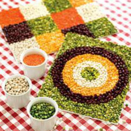 dried bean mosaic