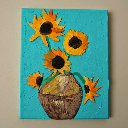 drywall plaster sunflowers