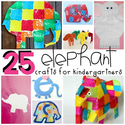25 Cute Elephant Crafts for Kindergarteners