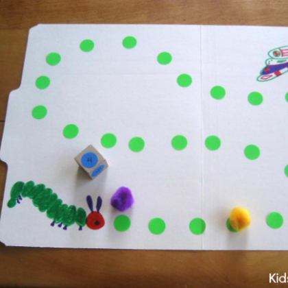 file folder caterpillar game