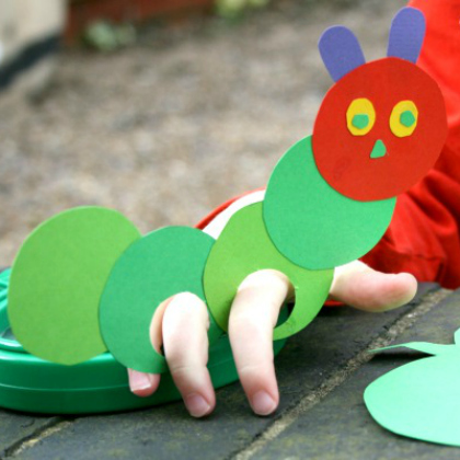 finger puppet caterpillar