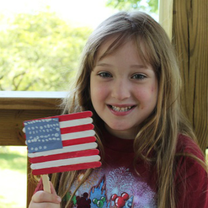 fourth of july flag made out of craft sticks - easy craft idea