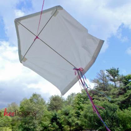 garbage bag kite