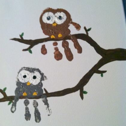 hand owl family