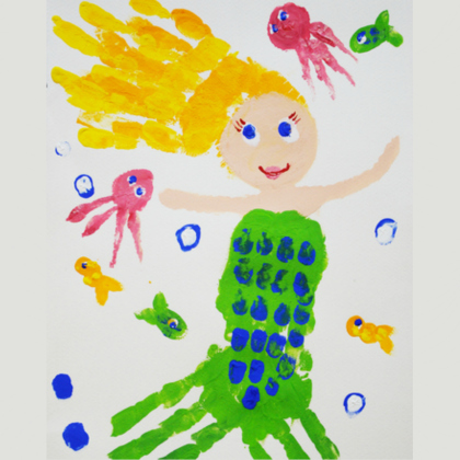 handprint mermaid
