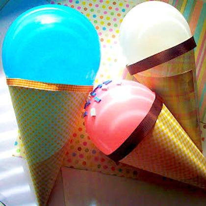 ice cream crafts balloons