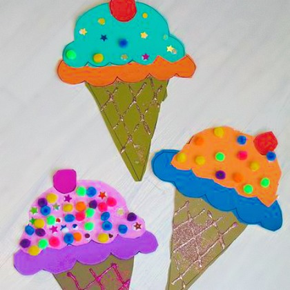 25 ice cream crafts for kids page 18 for Ice cream cone paper craft