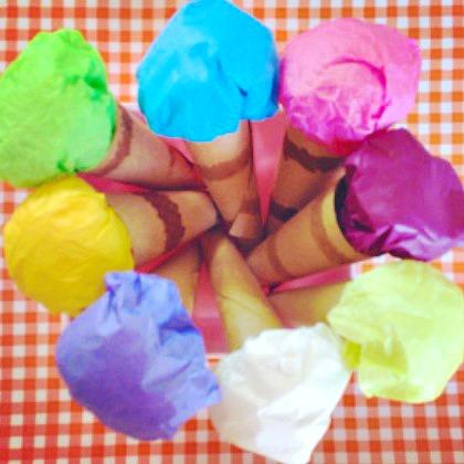 tissue ice cream
