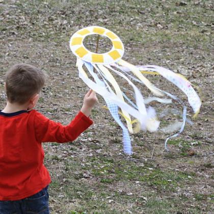 kite on a stick