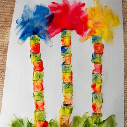 lorax finger painting