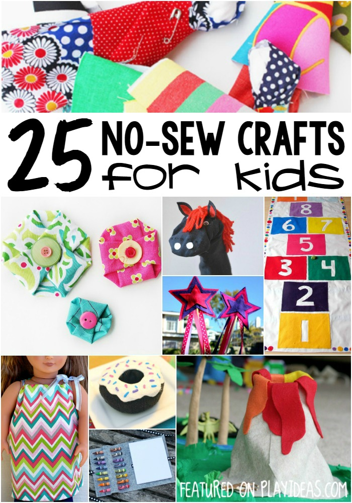 no-sew crafts for kids