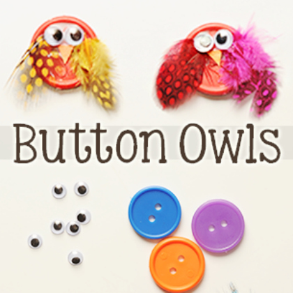 owl made of button