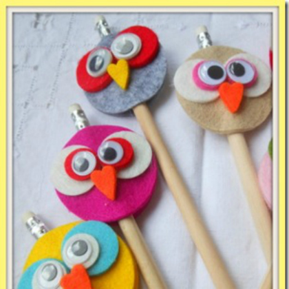 owl pencil toppers