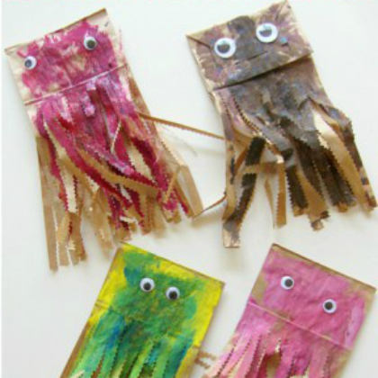 paper bag jelly fish